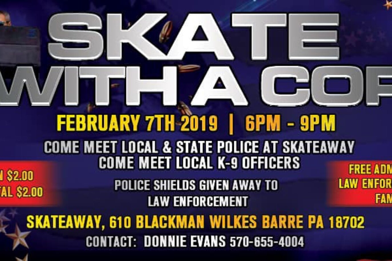 Skate With a Cop Set for Wilkes-Barre's Skateaway promo