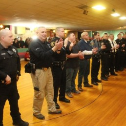 local law enforcement at Skate with a Cop in Wilkes-Barre February 2019